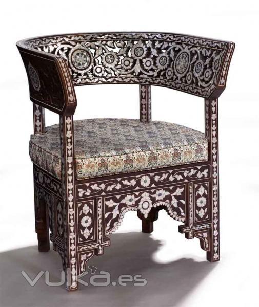 Sillones arabes sillones arabes mesa mosaico estructura for Muebles estilo arabe