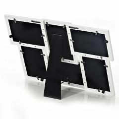 Portafotos aluminio blanco 10x15 6f detalle en lallimona.com
