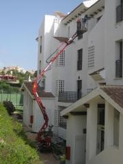 Pintura exterior. la alcaidesa village. cádiz. 2010