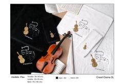 Toallas musicales. Un regalo original, una pieza artesanal y un complemento textil totalmente funcio