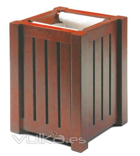 Muebles De Baño Wave:Papelera para el baño en cerezo