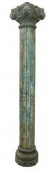 Columna de madera de teca tallada a mano. 250cm