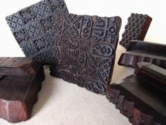 Complementos - Bloques de madera tallados. Muy utilizados en la estampación textil típica hindú.