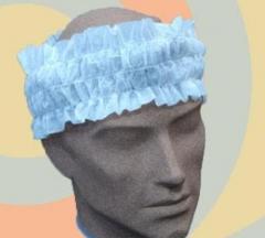 Cinta del pelo desechable estetica. Un regalo original, una pieza artesanal y un complemento textil