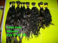 diferentes tipos de pelo. Virgen Hindu