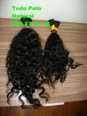 pelo super rizado de 60 cms y de 40 cms