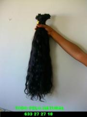 cabello ondulado 60 cms