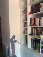 Vinilos decorativos para decoracion de interiores con trompetista