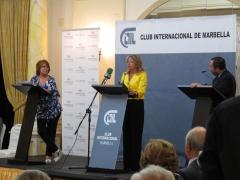 TERTULIA a TRES, ALCALDESA MARBELLA Angelez M. con Rosa Villacastin y el Presid.  Onda Cero Javier G