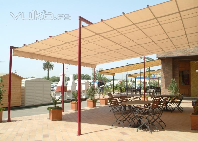 Foto toldo corredero marino o palillero ideal para - Toldos impermeables para terrazas ...