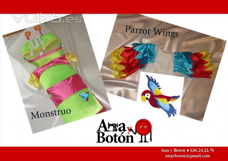 Foto: Disfraces 2010.- Monstruo y alas de loro