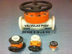 Valvulas PVDF desde � 20 a � 315
