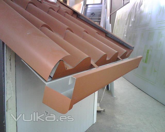 Foto panel teja for Tejas de plastico leroy merlin