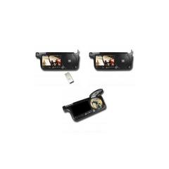 Parasol reproductor de dvd con pantalla tft lcd de 7 pulgadas con puerto usb y lector de tarjetas sd