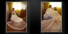 El vestido de Eva era espectacular y teníamos que resaltarlo
