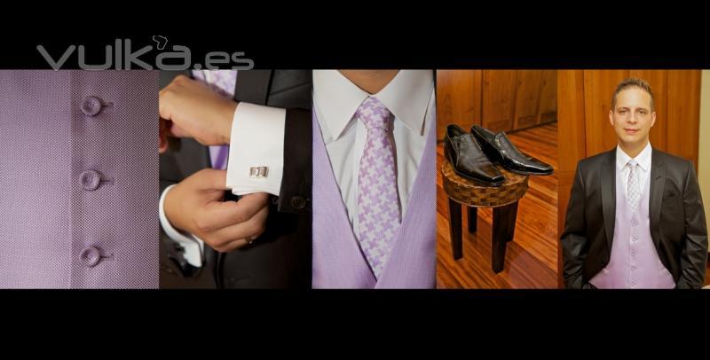 La elegancia de Óscar y los detalles de su traje y sus complementos