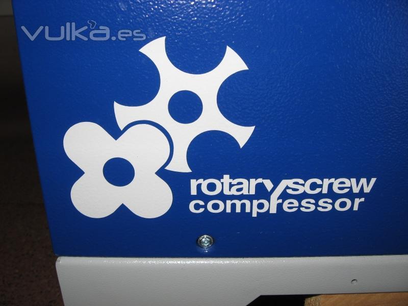 Logo de compresor rotativo de tornillo Puska.