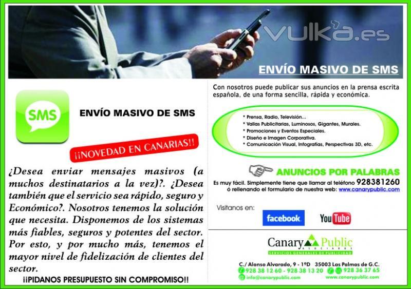 FOLLETO NUEVO SERVICIO SMS CANARY PUBLIC
