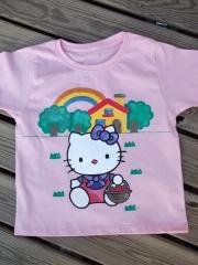 Camiseta Infantil pintada a mano con pinturas textiles de alta calidad