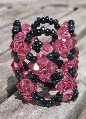 Anillo Elegance en dos tonos. Puedes combinar los colores que tú elijas. Cristales Swarovski.