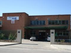 Fachada principal de Almacenes Sancho, S.A. en M�stoles (Madrid)