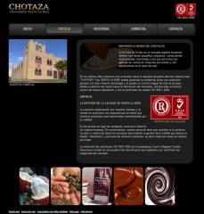 P�gina web de Chotaza con dise�o web CMS