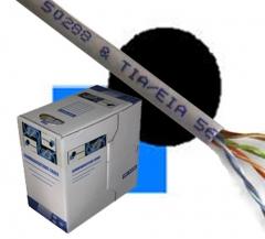 Cable 4P UTP CAT5e, y también  Tenemos FTP.