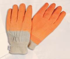 Látex con soporte de lona de algodón y puño elástico