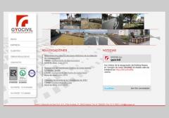 Desarrollo del sitio web para la empresa de obra civil