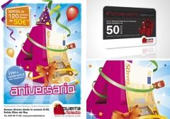 Diseño de la imagen promocional para la celebración del 4º aniversario de puerta de toledo