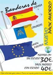 Oferta Pack de 3 Banderas 30EUR