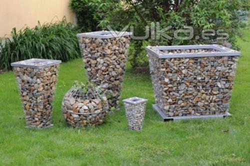 Foto distintas medidas jardineras gama de jardineras de for Jardineras de piedra natural