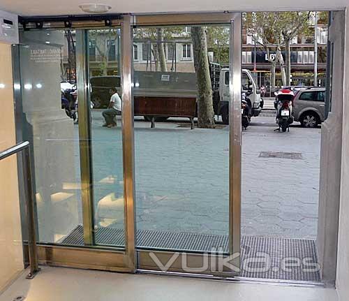 Max for for Puerta corredera automatica vidrio
