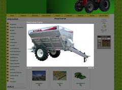 Sitio web estap� maquinarias. el sitio permite a los usuarios la solicitud de presupuestos online.