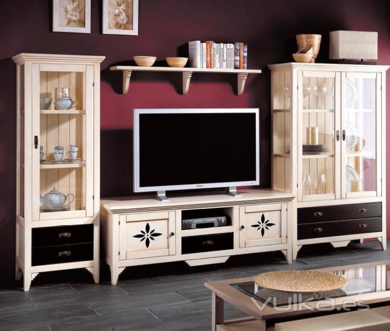 Foto Salon modular en madera de pino macizo en crudo o barnizado