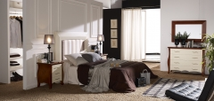 Dormitorio en madera de pino macizo en crudo o barnizado