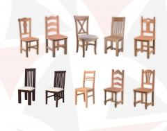 Tenemos mas de 200 modelos de sillas en crudo o barnizado