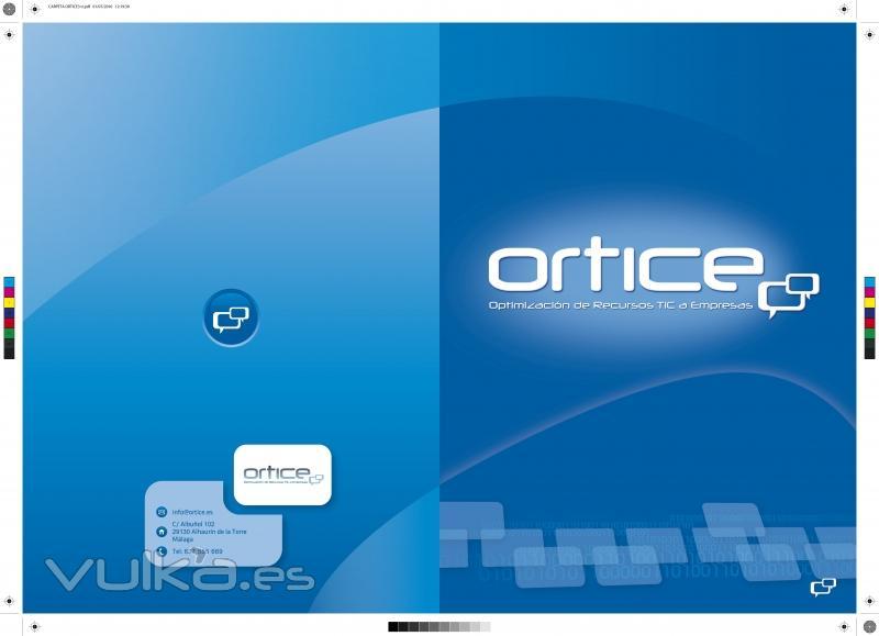 Carpeta corporativa para Ortice, Optimización de Recursos TIC para Empresas