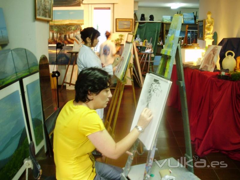 Octubre 2010, Clase de pintura con Carlos Roces