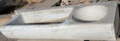 Fregadero de marmol dos pozas