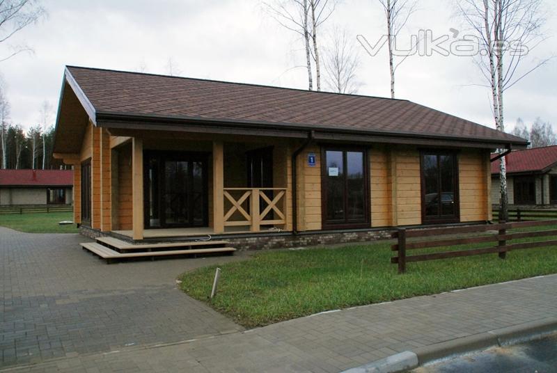 Foto casas de madera en tronco laminado - Casas prefabricadas en pontevedra ...