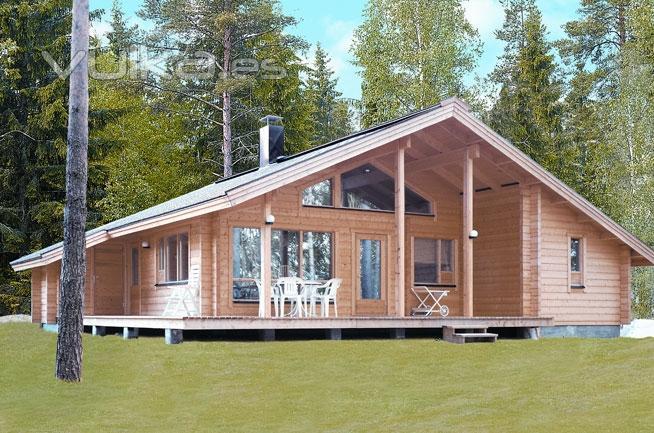 Foto casas de madera en tronco laminado - Casas de madera fotos ...