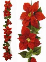 Flor de pascua artificial de calidad guirnalda navideña ponsetia artificial oasisdecor.com