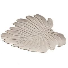 Centro ceramica hoja beig detalle 2 en la llimona home