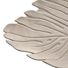 Centro ceramica hoja beig detalle 3 en la llimona home