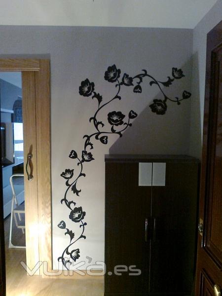 Foto quitado de gotelet enlucido de paredes colocado de for Stickers decorativos pared