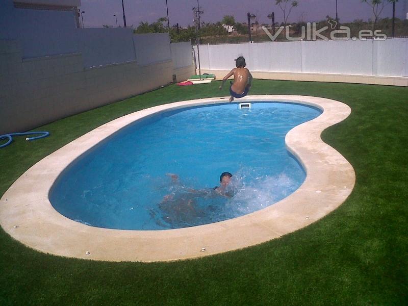 Pin entrada a piscina gimnasio y servicios valor 252 - Precio hacer piscina ...