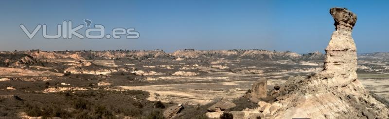 Panorama del desierto de Monegros, en la provincia de Huesca