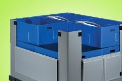 Embalaje reutilizable, contenedores est�ndares, contenedores a medida