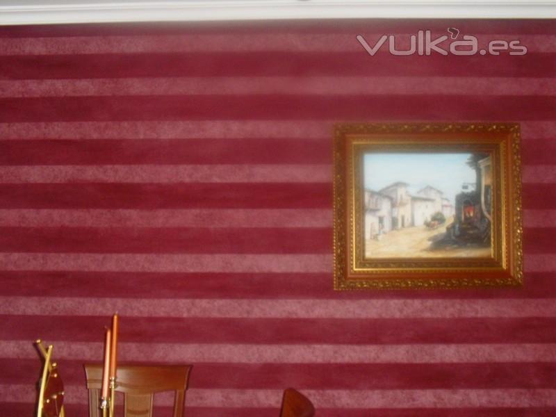 Jose manuel cozar pinturas y decoraciones cedillo del - Papel pintado colocacion ...